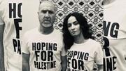 حمایت اریک کانتونا و همسر هنرمندش از مردم مظلوم فلسطین
