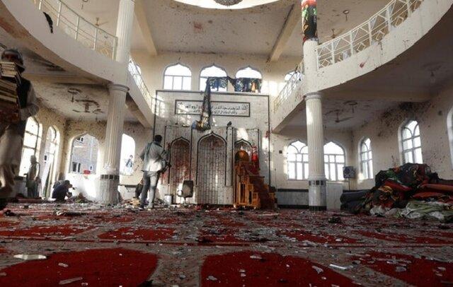 حمله داعش به مسجد کابل
