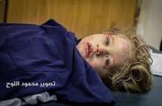 عکس | دخترک فلسطینی که در حمله صهیونیستها زنده ماند
