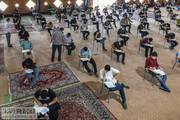 تصاویر | برگزاری امتحانات نهایی دانش آموزان در ایام کرونا
