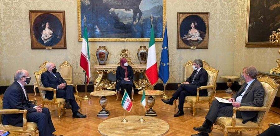 ظریف و  فیکو رئیس مجلس نمایندگان ایتالیا