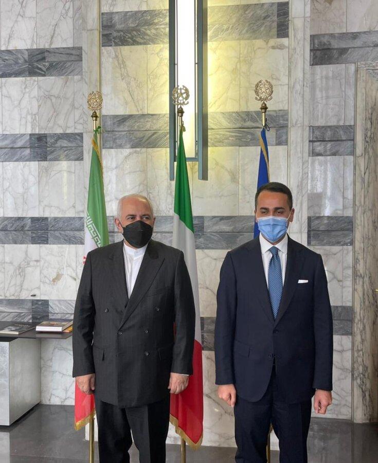 جزئیات دیدار ظریف با مقامات ایتالیایی   گزارش توییتری و تصاویر وزیرخارجه از دیدارها