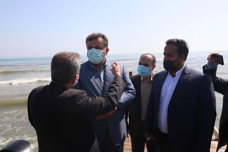افتتاح اسکله رامسر