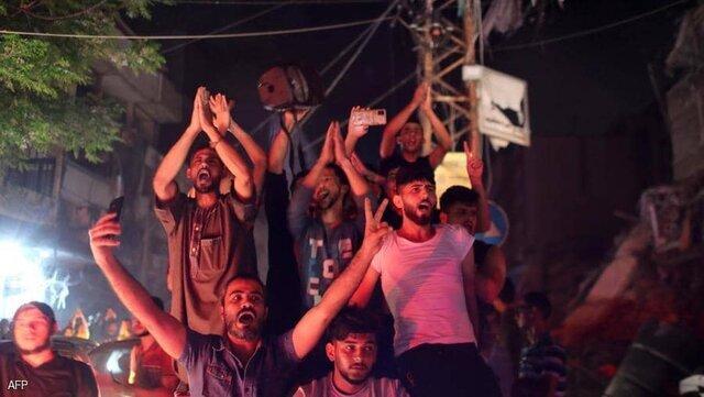 تصاویر | جشن پیروزی مقاومت بر اسرائیل در خیابانهای فلسطین