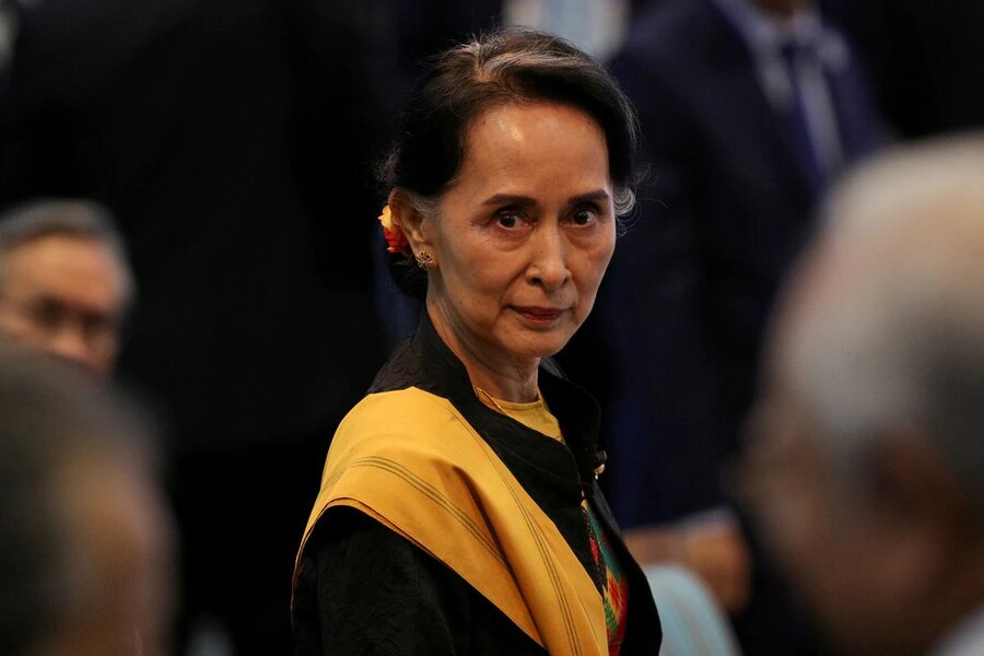 اولین حضور آن سان سوچی بعد از کودتا | دادگاه میانمار تشکیل شد