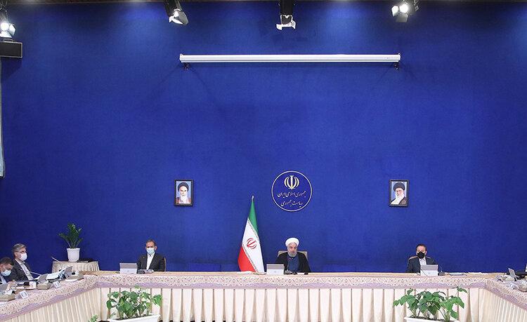 روحاني در جلسه هيات دولت چهارشنبه پنجم خرداد