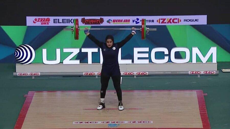 عکس   اولین مدال جهانی وزنهبرداری بانوان ایران کسب شد