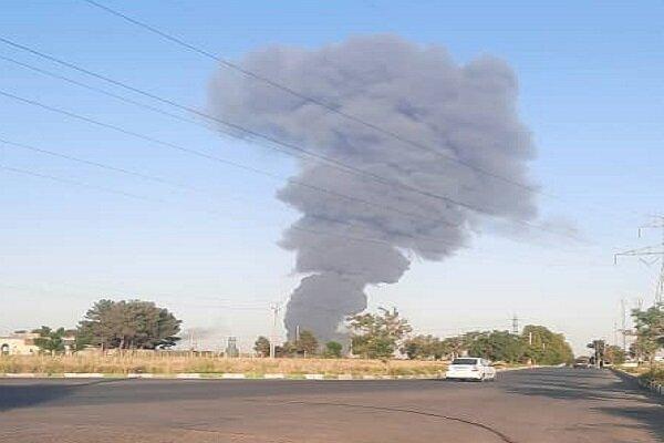 آتش سوزی در جنوب تهران