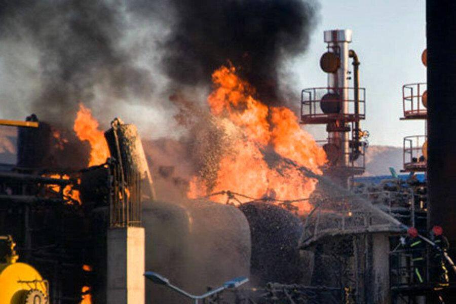 ویدئو    لحظه شروع آتشسوزی در پالایشگاه تهران
