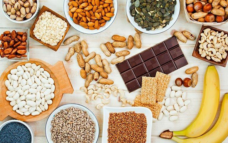 Magnesium - منیزیم - سبزیجات - تغذیه - مغزها - مییوه