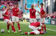 ویدئو | اتفاق تلخ در بازی دانمارک و فنلاند و تعویق بازی  | بهت و گریه بازیکنان از بیهوش شدن بازیکن دانمارک