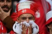 وحشت هواداران دیدار انگلیس با کرواسی | سقوط یک تماشاگر از جایگاه