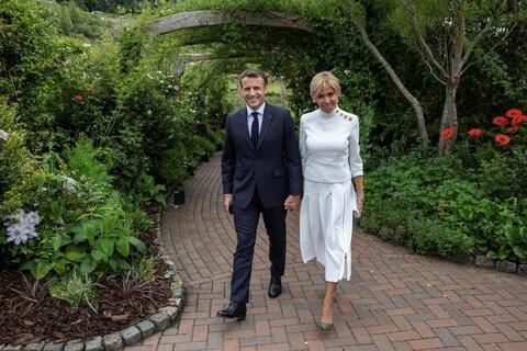 بریژیت ماکرون ، همسر امانوئل مکرون ، رئیس جمهور فرانسه