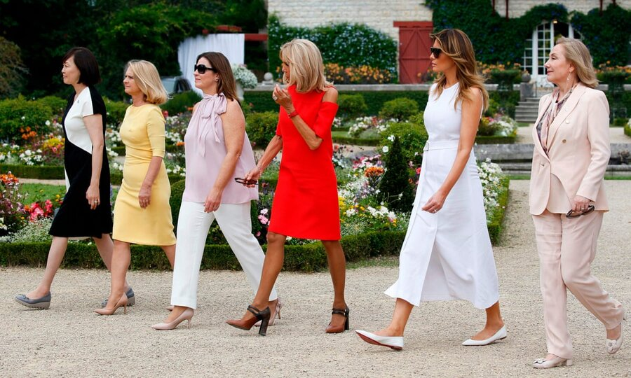 عکس | مقایسه لباس همسر بایدن و ملانیا ترامپ در اجلاس گروه هفت
