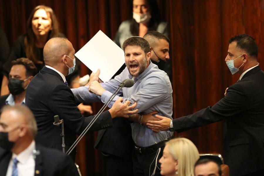 یک نماینده تندرو در جلسه امروز کنست فریاد میزند.