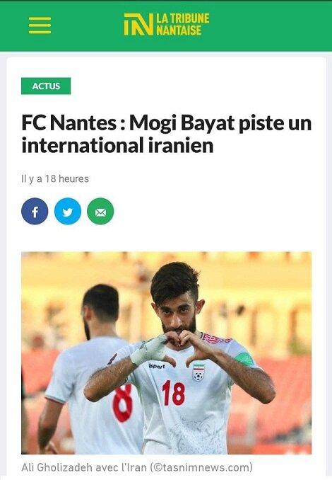 عکس   پیشنهاد فرانسوی برای بازیکن تیم ملی   لژیونر ایرانی راهی لوشامپیونه میشود؟