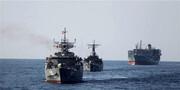 ویدئو | لحظه تقابل ناو ارتش ایران با نیروی دریایی آمریکا