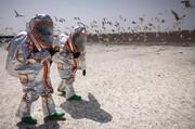 عکس روز| مانور شیمیایی