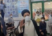 تصاویر | ورود ابراهیم رئیسی به مسجد جامع شهر ری برای شرکت در انتخابات