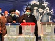 عکس | سیدحسن خمینی رای خود را به صندوق انداخت