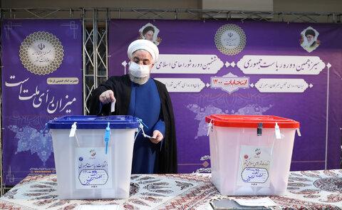 روحانی: کاش از روز ثبتنام در انتخابات هیچ مشکلی نداشتیم   امیدوارم مشارکت بالای مردم موجب یأس دشمنان شود