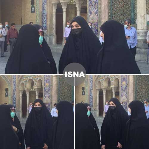 عکس   دختر سردار سلیمانی در حرم عبدالعظیم حسنی