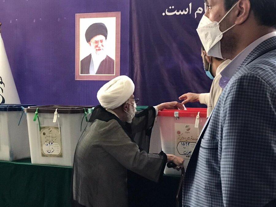 تصاویر |نامزدهای انتخابات و چهرههای معروف سیاسی کجا رای دادند