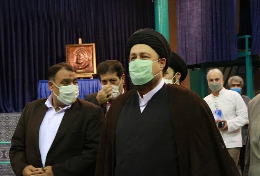 عکس | سید حسن خمینی رای خود را در حسینیه جماران به صندوق انداخت