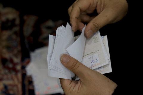 تصاویر   شمارش رایهای مردم در انتخابات ۱۴۰۰