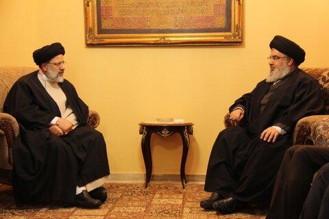 پیام تبریک سید حسن نصرالله به ابراهیم رئیسی