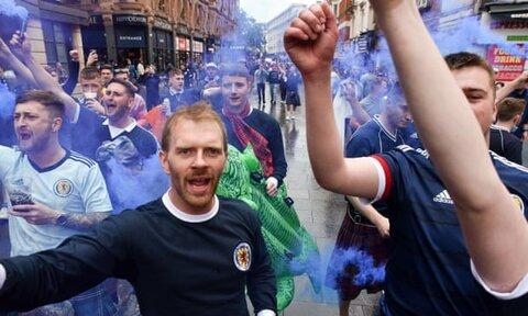 آشوب هواداران اسکاتلند در لندن