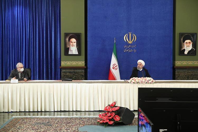 روحاني در جلسه ستاد كرونا شنبه 29 خرداد