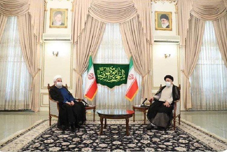 ديدار روحاني با رئيسي پس از انتخابات