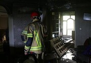 نجات ۱۲ نفر از میان آتش و دود در ملاصدرا
