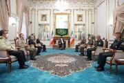 فرماندهان نظامی کشور به دیدار رئیس جمهور منتخب رفتند