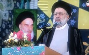 ویدئو | تجدید میثاق ابراهیم رئیسی با آرمانهای امام خمینی(ره)
