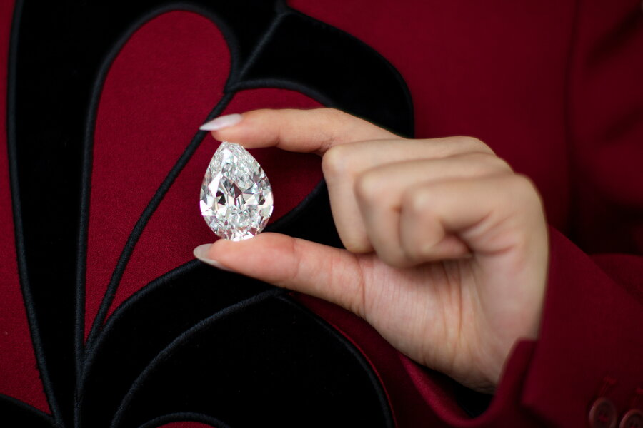 الماس 100 قیراطی گلابی شکل