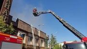 عکس | آتشسوزی در خیابان سعدی تهران | نجات ۱۸ نفر از میان دود و آتش