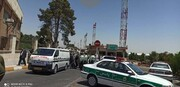 ویدئو | انتقال پیکر دو خبرنگار جان باخته در سانحه واژگونی اتوبوس