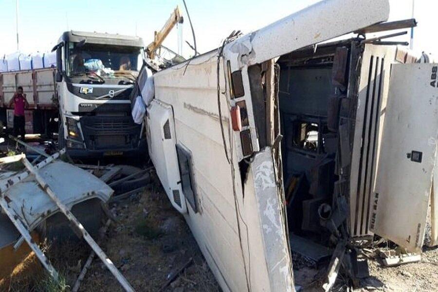 واژگونی اتوبوس سربازمعلمها