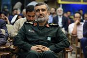 عکسی از سردار حاجی زاده در اتاق جلسه وزارت خارجه اسرائیل