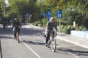 مسیر دوچرخهسواری به مرزداران  رسید