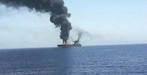ادعای انگلیسیها: یک کشتی اسرائیلی در دریای عمان هدف قرار گرفت