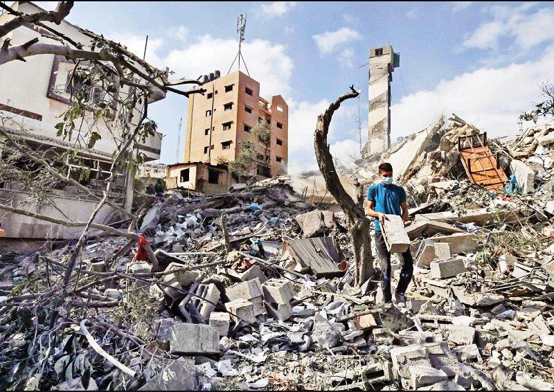 آوار ماندگار |  چشمانداز روشنی برای بازسازی ویرانیهای جنگ ۱۱روزه نیست