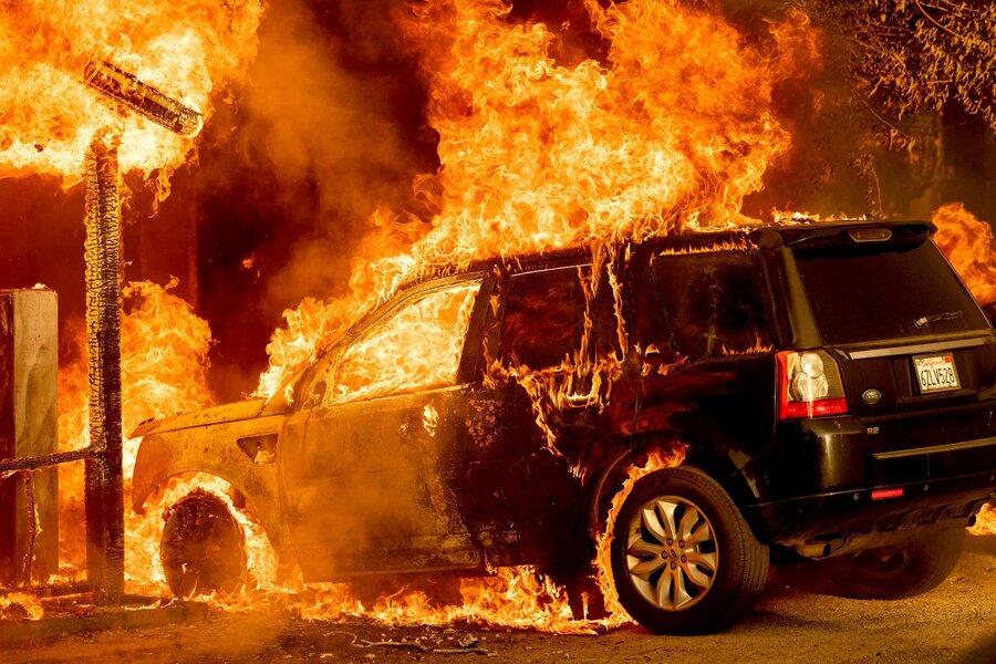آتش سوزي در كاليفرنيا