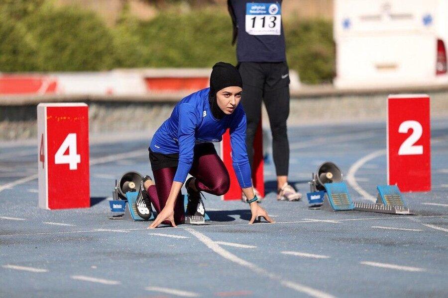 تصاویر | حضور سریعترین دختر ایران بر مزار اولین دونده زن ایرانی در المپیک