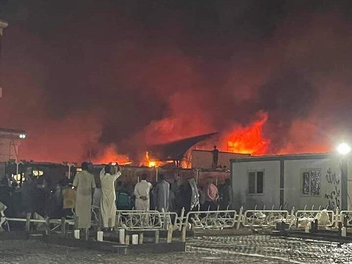 ویدئو آتشسوزی شدید در بیمارستانی در عراق  ۵۸ کشته و دهها مصدوم