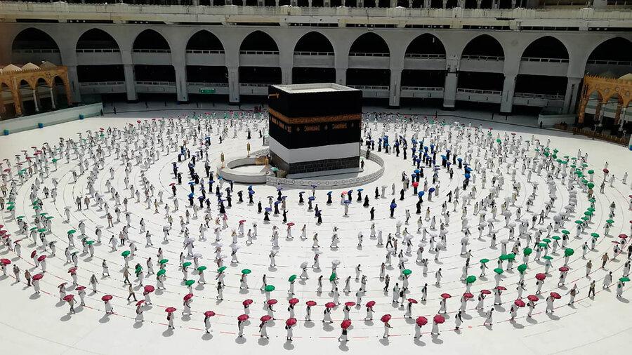 مراسم حج سال گذشته در زمان شيوع كرونا (1399)