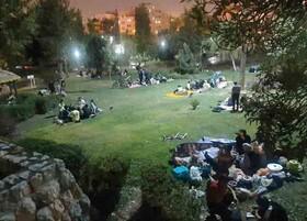 پرسه شبانه کرونا در پارک پلیس!