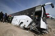 واژگونی اتوبوس مسافربری این بار در سمنان | ۱۵ نفر مصدوم شدند